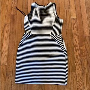 Boutique Navy Striped Dress